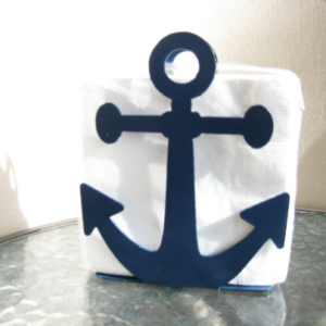 Nautical decor anchor napkin holder