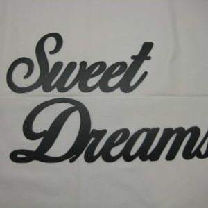Sweet Dreams Metal Decor