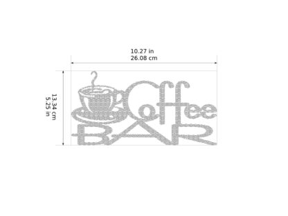 Coffee Bar Metal Decor Dimensions