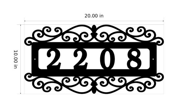 Custom Address Sign With Dimensions