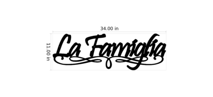 La Famiglia With Scroll Work