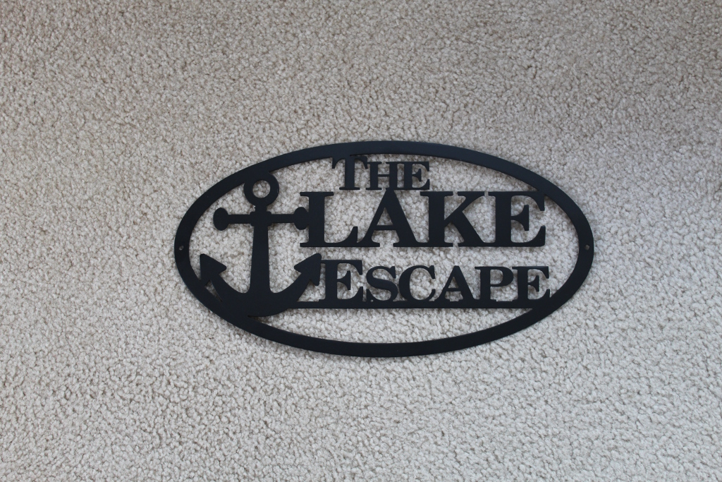 Custom Lake Escape Sign