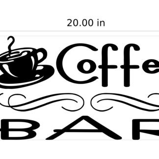 Coffee Bar Vinyl Graphics