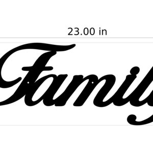 Metal Family Sign